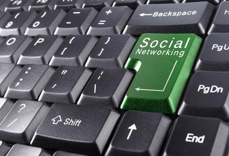 Social Networking auf der Tastatur