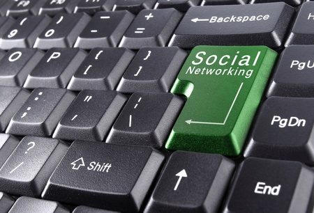 social networking on keyboard photo