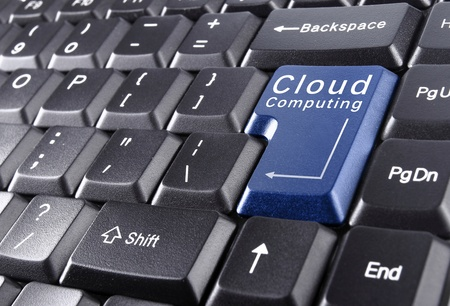 Computer-Tastatur für Cloud-Computing-Konzept Standard-Bild - 11772422