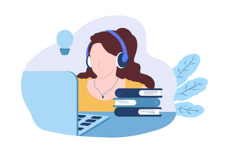 Drawing woman online education