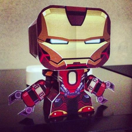 papercraft: Iron man - red snapper armor papercraft