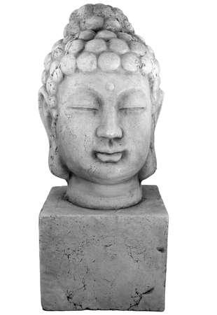 new age: A Buddha head. Stock Photo