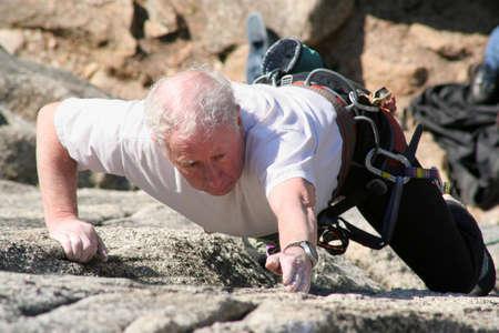 An older rock climber. photo