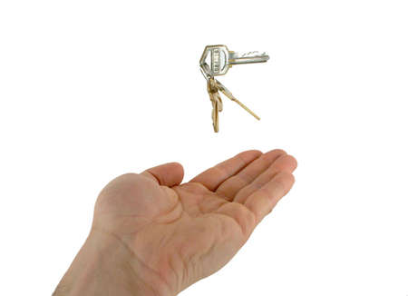 keys tossed into the air