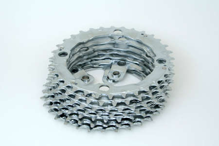 A stack of sprockets.