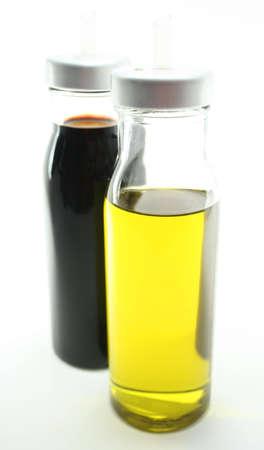 balsamic: Olive Oil and Balsamic Vinegar Stock Photo