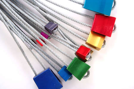 A set of wire nuts used for safety while rock climbing.