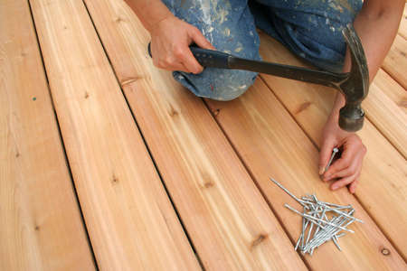 Building a new deck. Stock Photo - 440156