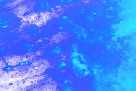 salt crystal: A blue version of a glowing himalayan rock salt crystal.
