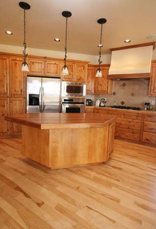 highend: Una nuova cucina in una casa Montana. Acero pavimento.