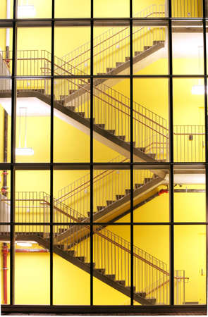 stairwell: A brightly lit stairwell creates an interesting pattern.