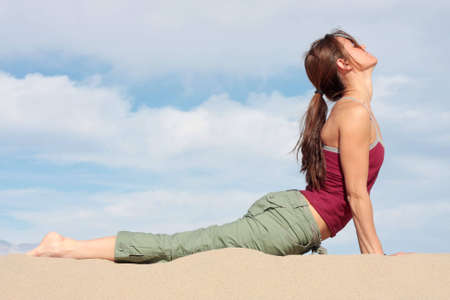 A Yoga pose in Death Valley National Park, California. Stock Photo - 2655697