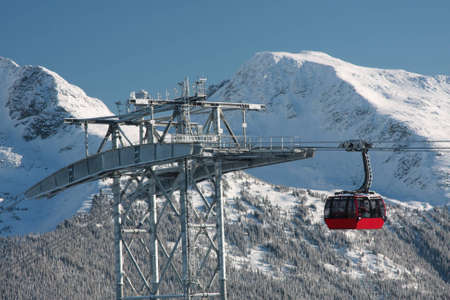 eyesore: The Peak to Peak  (P2P) gondola in Whistler BC.  An engineering marvel (and some would say eyesore) that connects Whistler Mountain to Blackcomb Mountain from  not-quite-peak to not-quite peak.