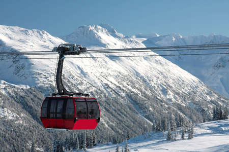 One cabin of the newly constructed Peak to Peak Gondola in Whistler BC.