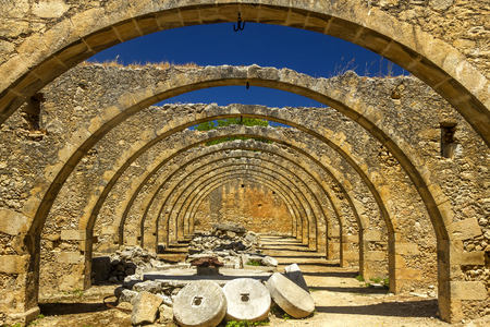 millstone: Arches in an old oil press