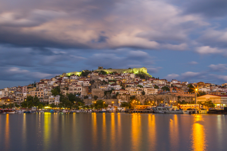 City of Kavala, Greece. Stock Photo