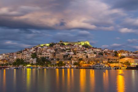 Greece: City of Kavala, Greece. Stock Photo