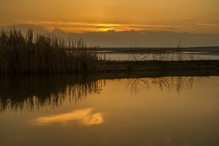 thessaly: Sunset at the lake