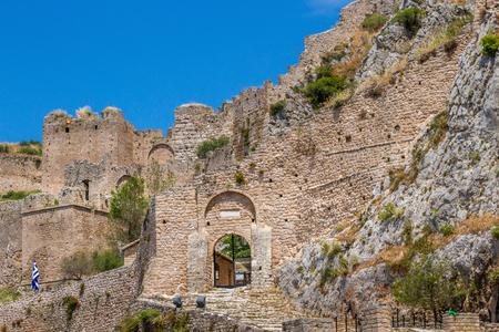 Akrokorinthos castle, in Corinth, Peloponnese, Greece. Editöryel