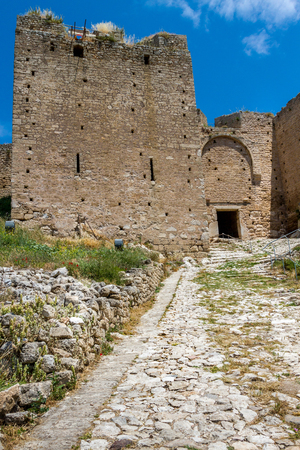 Akrokorinthos castle, in Corinth, Peloponnese, Greece. Stock fotó