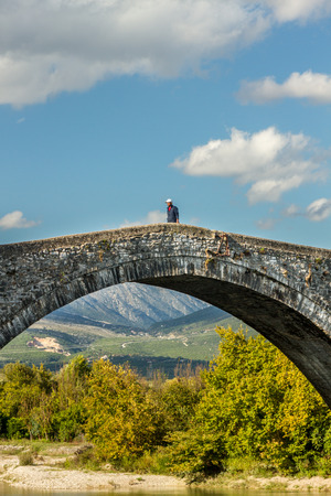 Arta stone bridge, in Epirus region, Greece