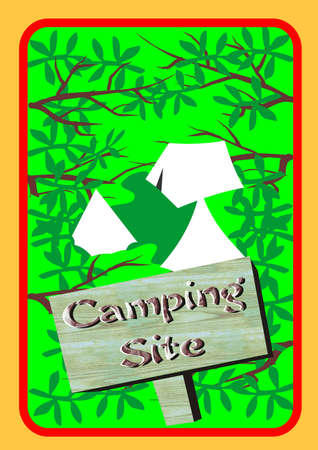 camping site: Camping site a poster as a wall decoration or adverting