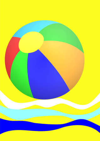 beachball: Beachball, a summer scene Stock Photo