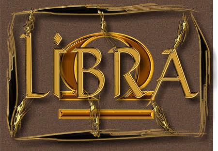Libra, signo del Zodiaco  Foto de archivo - 3402792