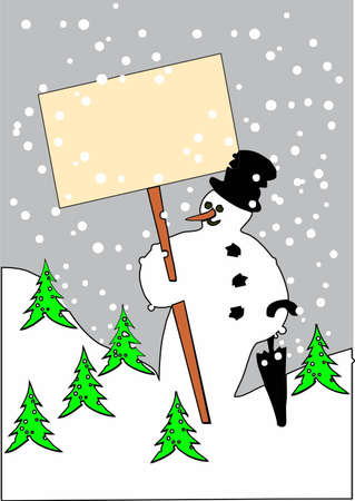 snowman with text-board photo