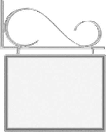 iron bars: Hanging sign