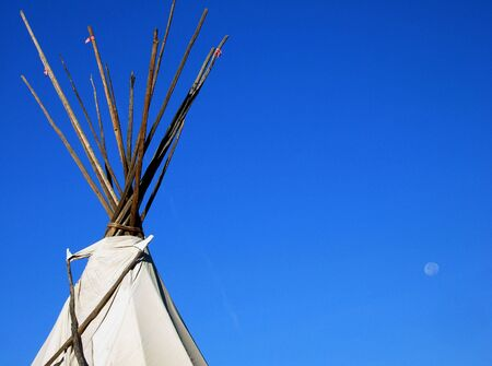 Tepee and Moon