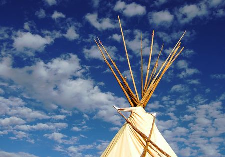Tepee and Clouds