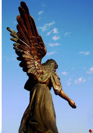 angel cemetery: Angel Stock Photo