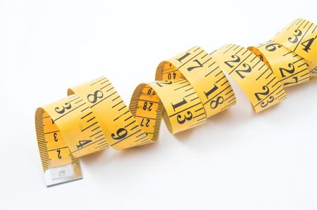 newyears: Tailors Measuring Tape Stock Photo