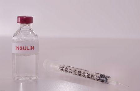 pharmaceutic: Medicine Vial and Syringe Stock Photo