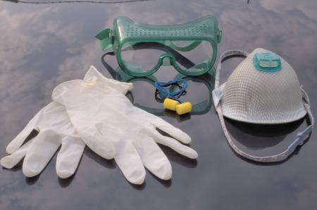 Los equipos de protección individual  Foto de archivo - 760526
