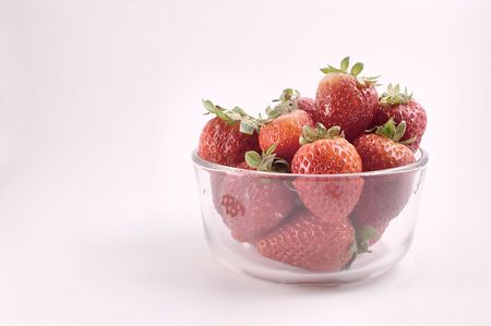 strawberies: Strawberries in a Bowl Stock Photo