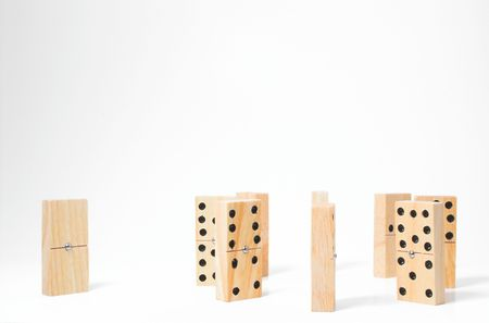 Dominoes - Concept of an Outcast Stock Photo - 760513