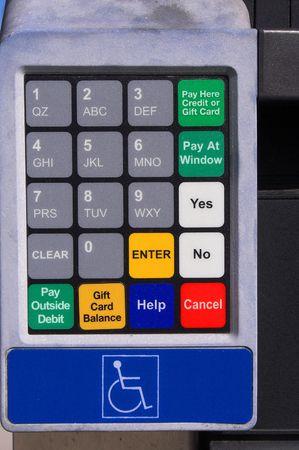 ATM クレジット カード キーパッド