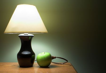 Apple Powered Lamp Stock Photo - 789194