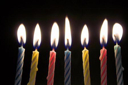 candeline compleanno: Candele compleanno  Archivio Fotografico