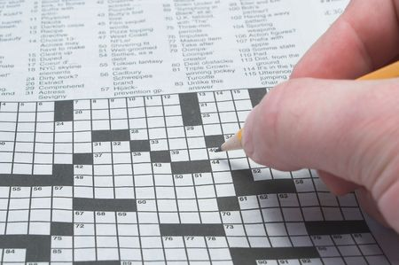 filling out: Filling Out a Crossword Puzzle