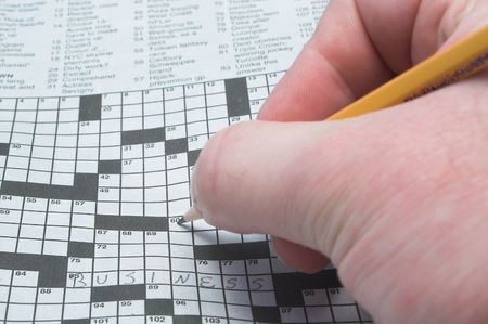 teaser: Filling Out a Crossword Puzzle