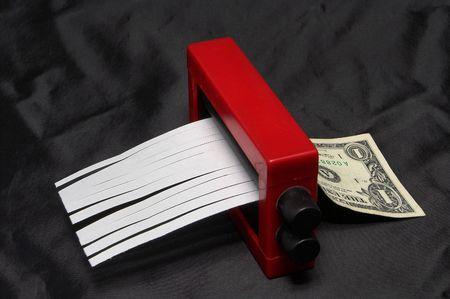 vals geld: Geld Wisselaar Magic Trick Stockfoto