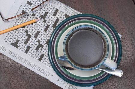 brain teaser: Crossword Puzzle and Coffee