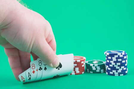 eights: Aces and Eights Stock Photo