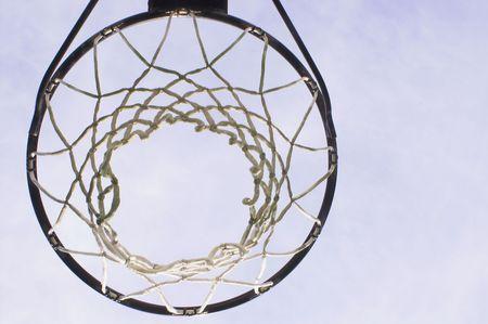 b ball: Basketball Goal Stock Photo