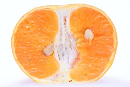 オレンジ色のクロス セクション