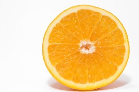 A cross section of a fresh and juicy orange. Imagens - 923003