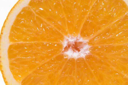 新鮮でジューシーなオレンジの断面図。 写真素材